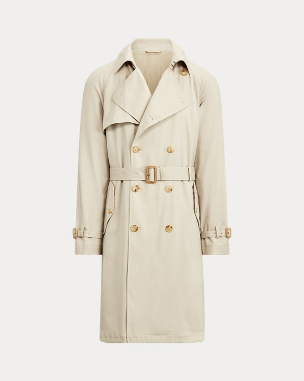 Water-Repellent Wool Coat
