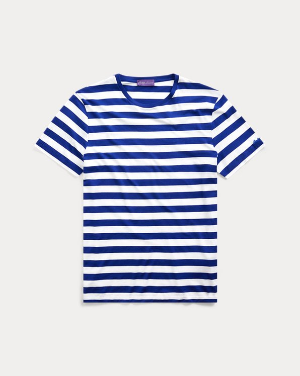 Striped Lisle Crewneck T-Shirt