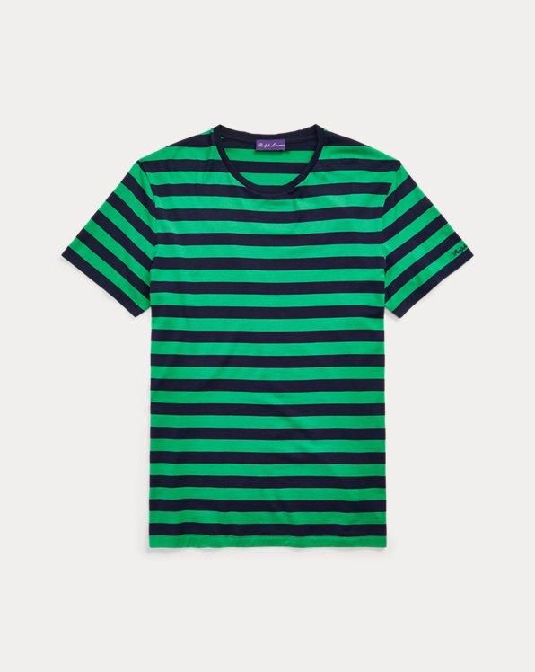 Gestreiftes T-Shirt aus Florgarn