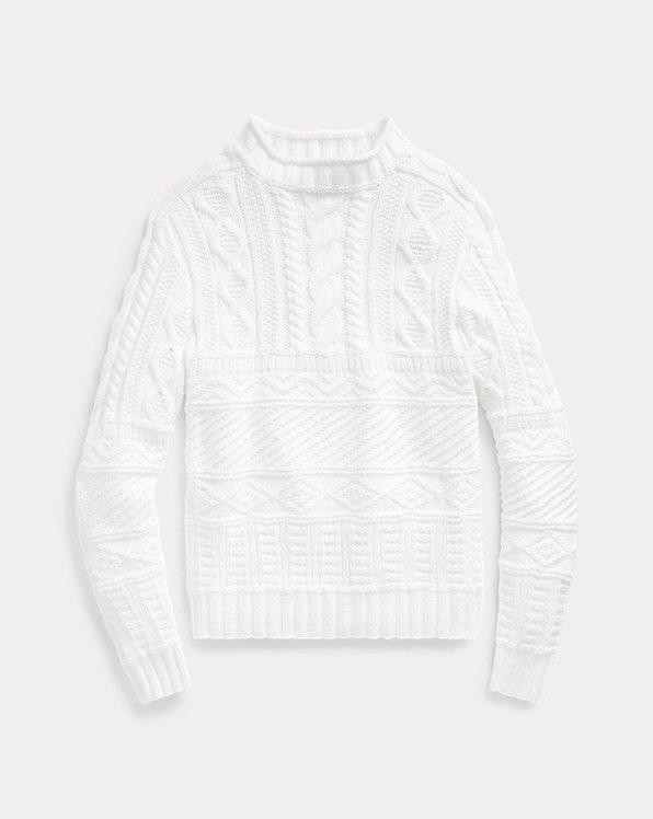 Hand-Knit Cotton-Blend Sweater