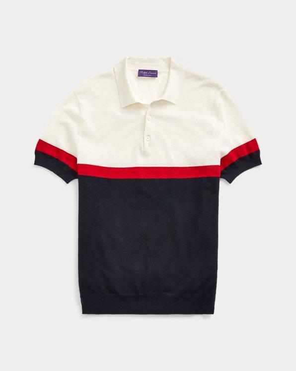 Silk-Blend Polo-Collar Jumper