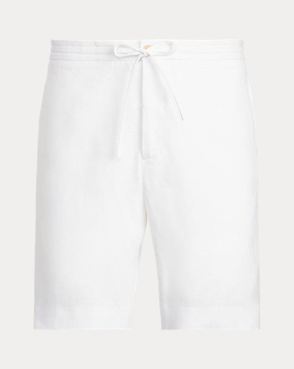 Pantalones cortos de lino con cordón