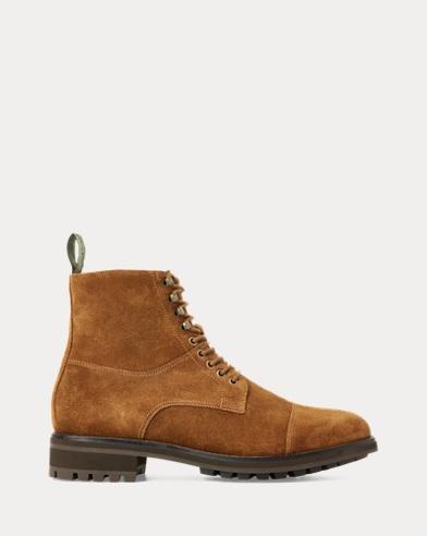 Polo Ralph Lauren Hanford Sneaker rot Leder Herren Schuhe