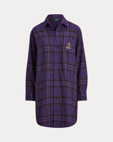 Plaid Cotton Sleep Shirt
