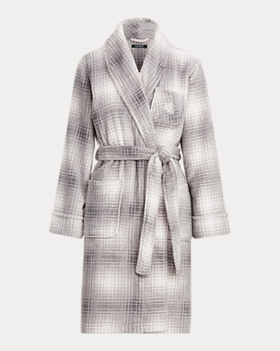 Plaid Fleece Robe