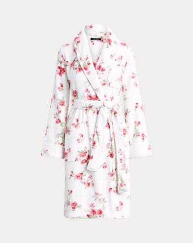 Floral Fleece Robe