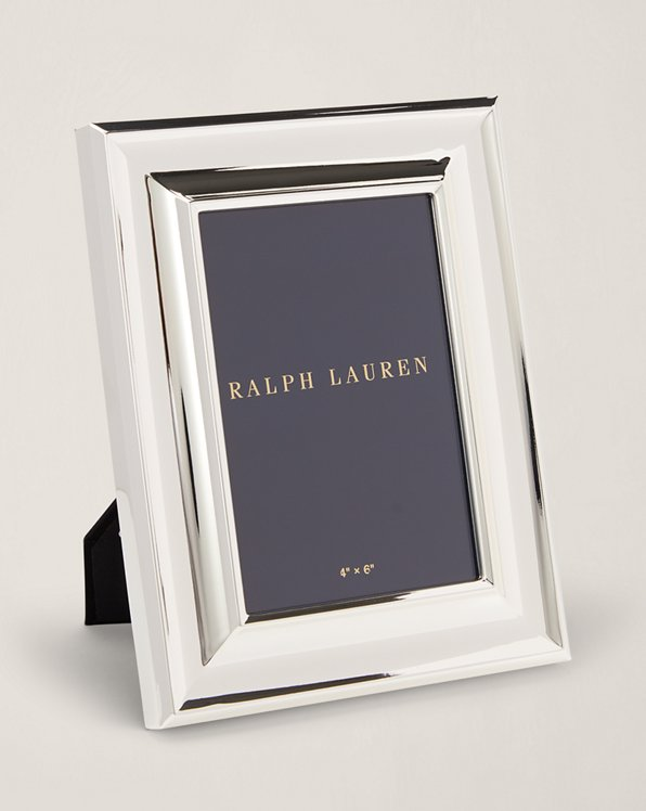 """Ralph Lauren Home Silver Colored Photo Picture Frame New 4"""" X 6"""" Metal"""