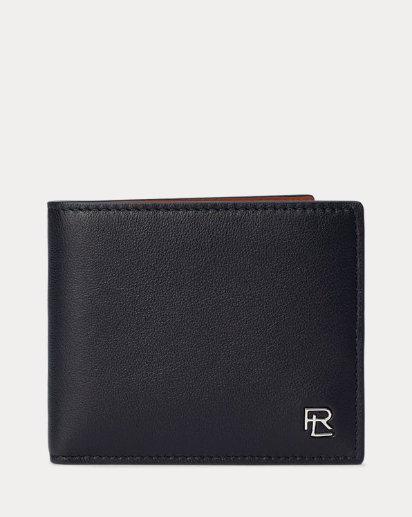 Metal-Plaque Calfskin Billfold