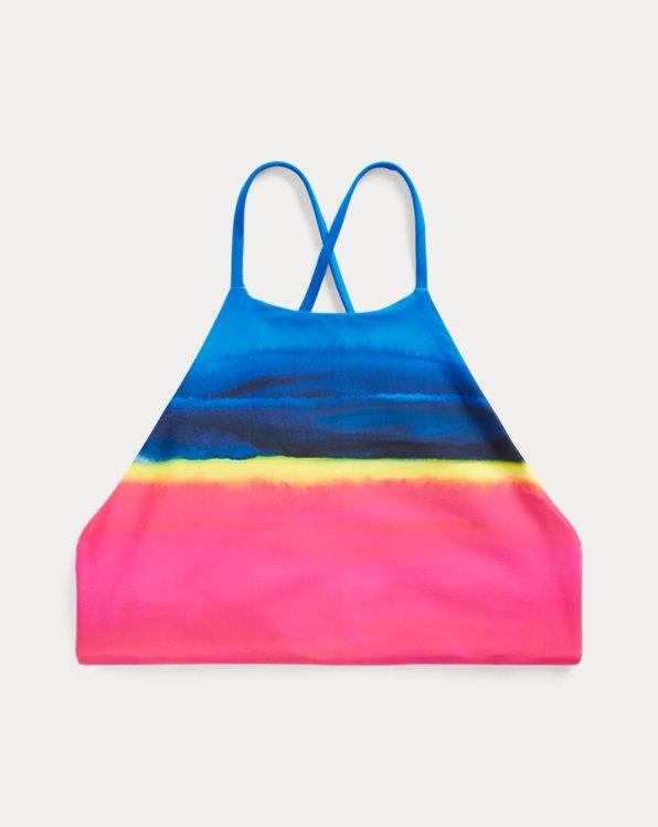 Dip-Dyed Halter Bikini Top