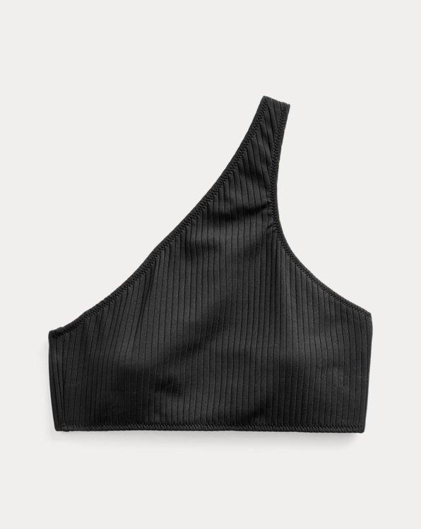 Ribbed One-Shoulder Bikini Top