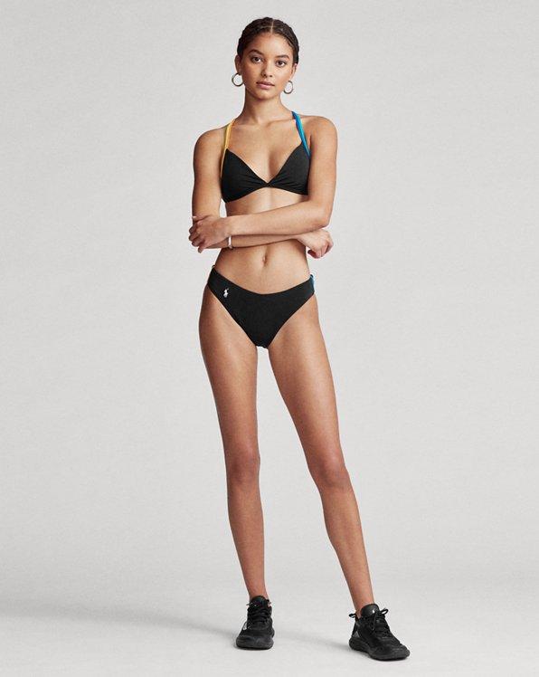 Racing-Stripe Bikini Bottom