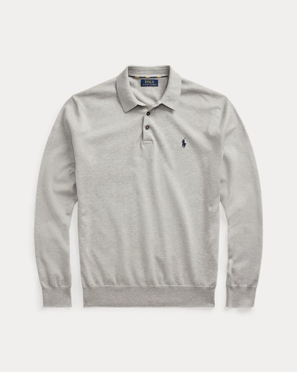 Cotton Polo-Collar Sweater