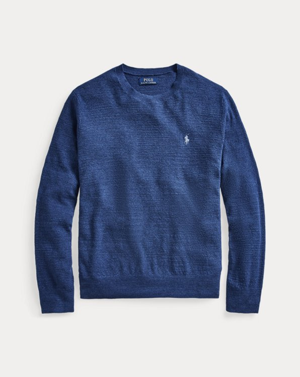 Cotton-Linen Crewneck Sweater