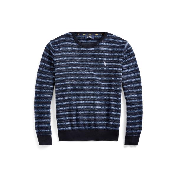 폴로 랄프로렌 Polo Ralph Lauren Fair Isle Cotton Sweater,Navy Fairisle