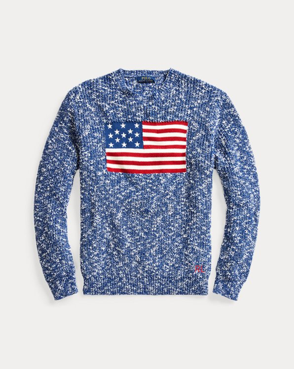 Flag Marled Cotton Sweater