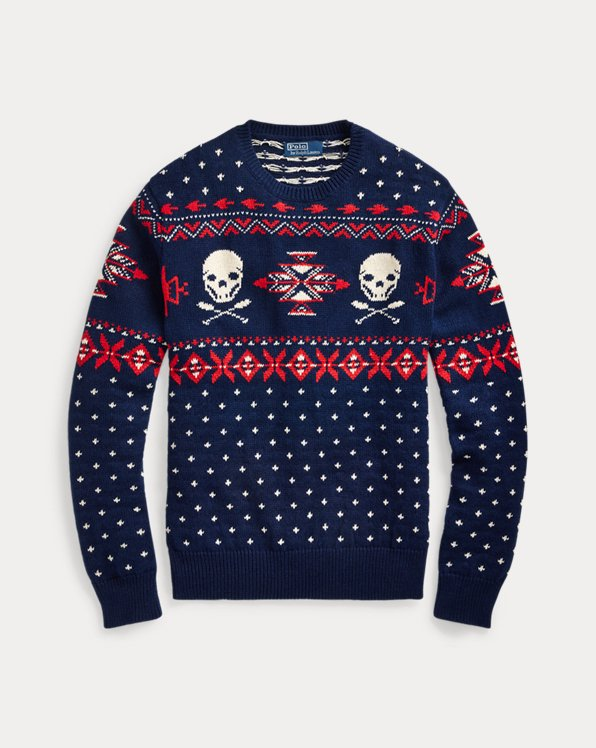 Nordic Skull-and-Bones Jumper