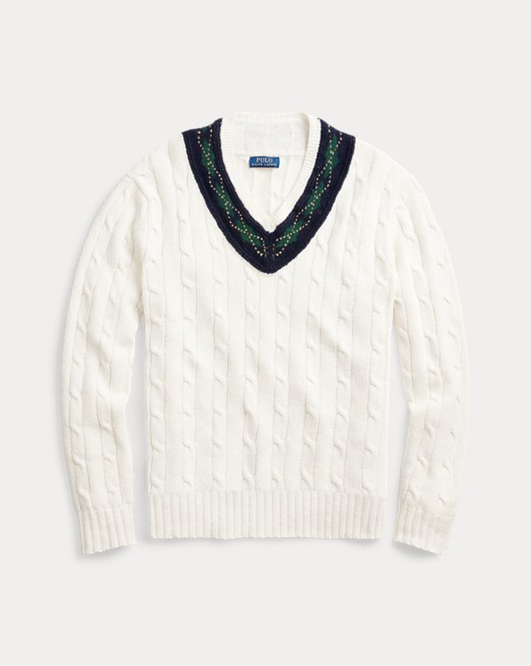 Argyle-Trim Cricket Jumper