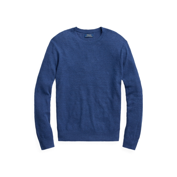 폴로 랄프로렌 Polo Ralph Lauren Cotton-Linen Sweater,Indigo Heather