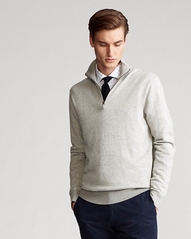 Birdseye Cotton-Blend Sweater