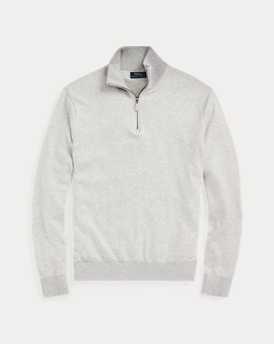 Birdseye Cotton-Blend Sweater