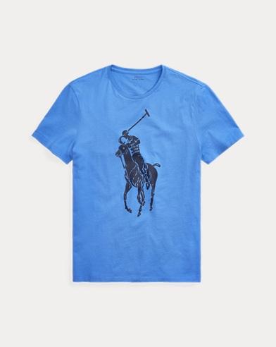 폴로 랄프로렌 Polo Ralph Lauren Custom Slim Big Pony T-Shirt,Scottsdale Blue