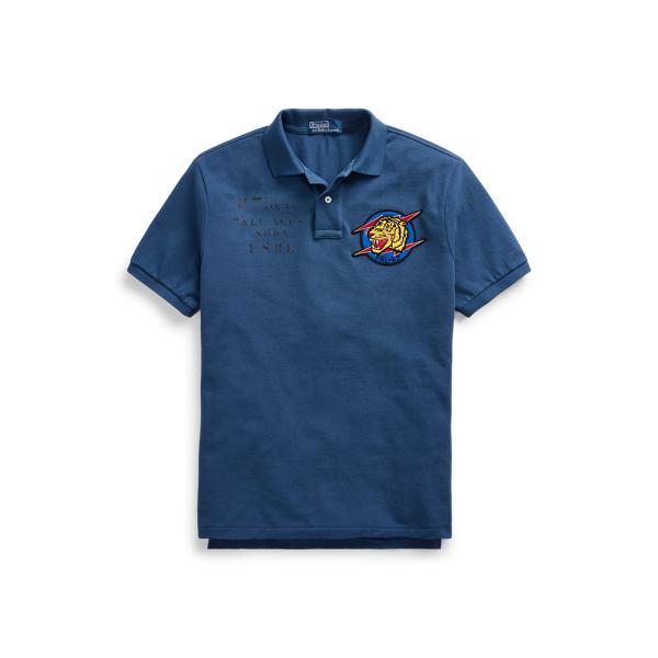 폴로 랄프로렌 Polo Ralph Lauren Custom Slim Fit Mesh Polo,Clancy Blue