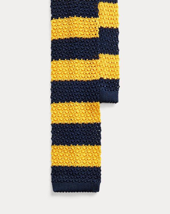 Striped Knit Silk Tie