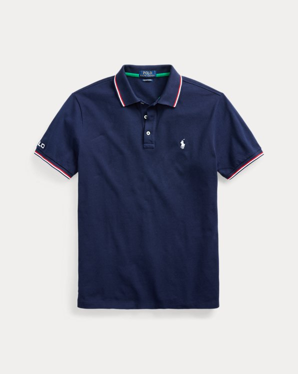 Custom Slim Fit Mesh Polo