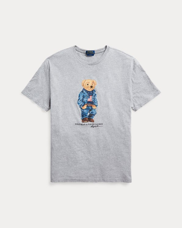 Classic Fit Denim Bear T-Shirt