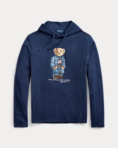 Denim Bear Hooded T-Shirt