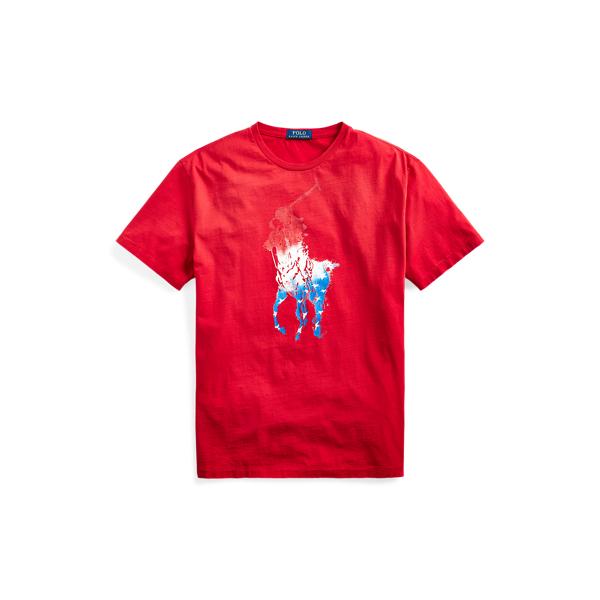 Ralph Lauren Classic Fit Big Pony T-shirt In Rl 2000 Red