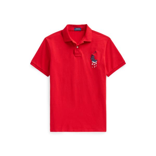Ralph Lauren Custom Slim Fit Big Pony Polo Shirt In Rl 2000 Red