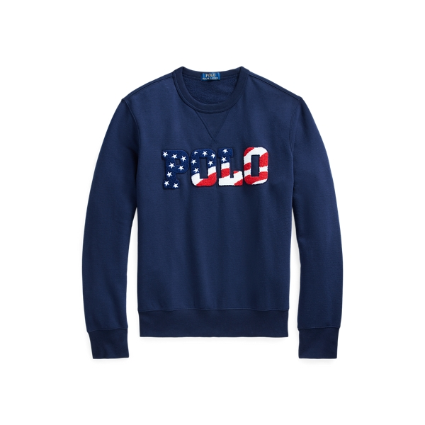Ralph Lauren Fleece Graphic Sweatshirt In Blue