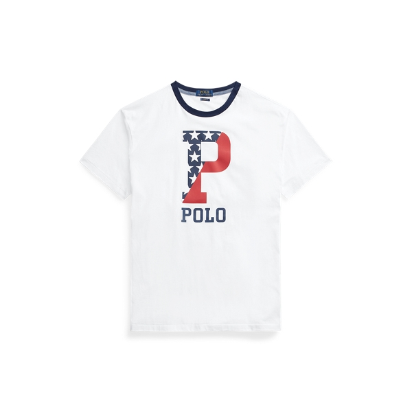 Ralph Lauren Classic Fit Graphic T-shirt In White