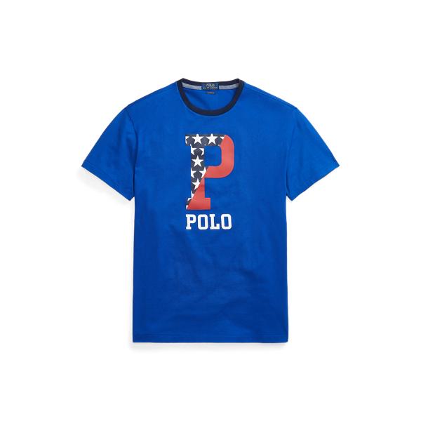 Ralph Lauren Classic Fit Graphic T-shirt In Blue