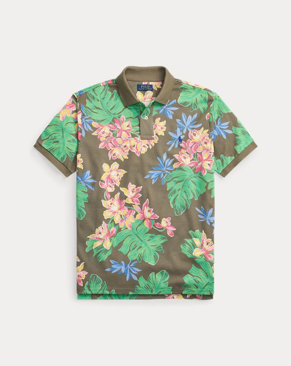 Custom Slim Fit Floral Polo