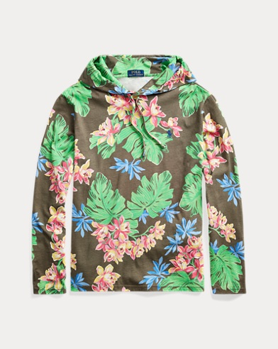 Floral Jersey Hooded T-Shirt