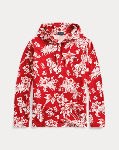 Tropical Bear Hooded T-Shirt
