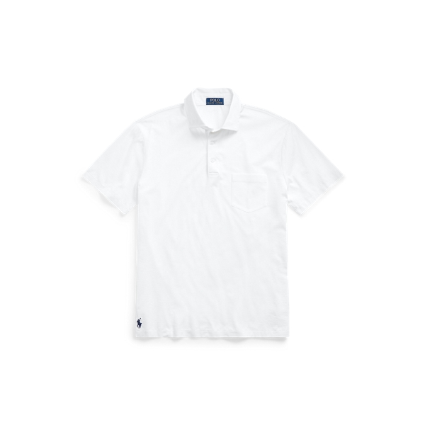 폴로 랄프로렌 Polo Ralph Lauren Custom Slim Fit Jersey Polo,White