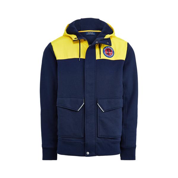 폴로 랄프로렌 Polo Ralph Lauren Fleece Hybrid Jacket,Slicker Yellow/Newport Na