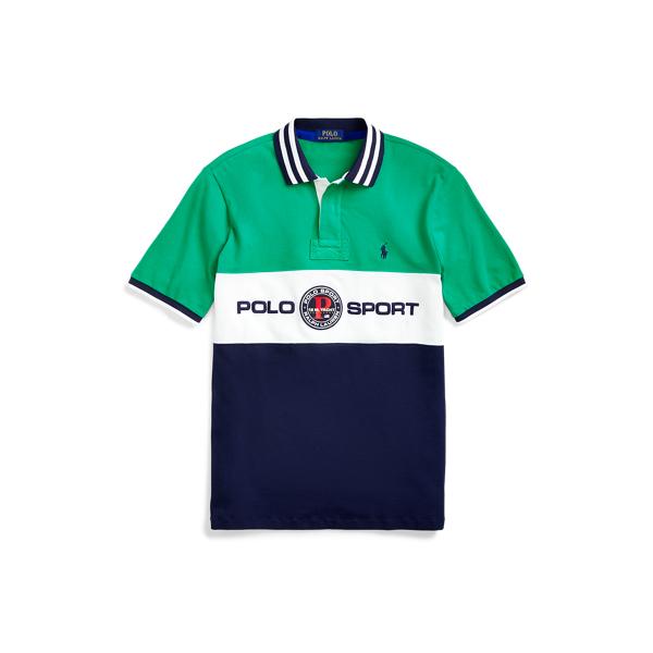 폴로 랄프로렌 Polo Ralph Lauren Custom Slim Fit Mesh Polo,Chroma Green Multi