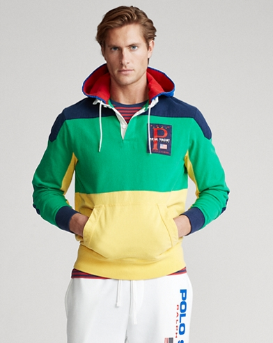 Color-Blocked Hooded Rugby