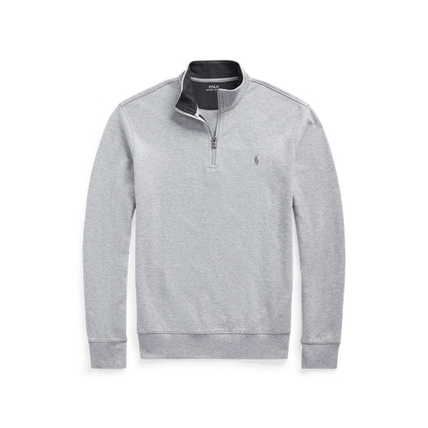 폴로 랄프로렌 Polo Ralph Lauren Jersey Quarter-Zip Pullover,Andover Heather/Navy