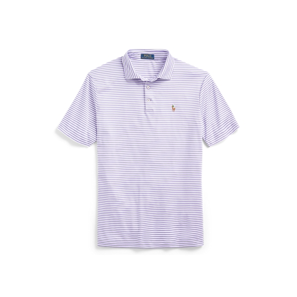 폴로 랄프로렌 Polo Ralph Lauren Classic Fit Soft Cotton Polo,Hampton Purple/White
