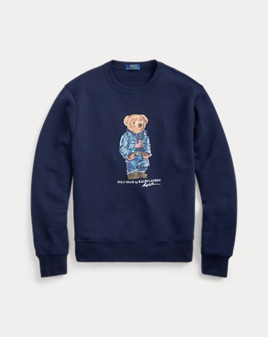 Denim Bear Fleece Sweatshirt