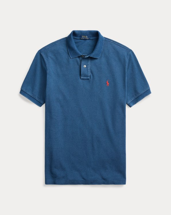 Polo in piqué indaco Classic-Fit