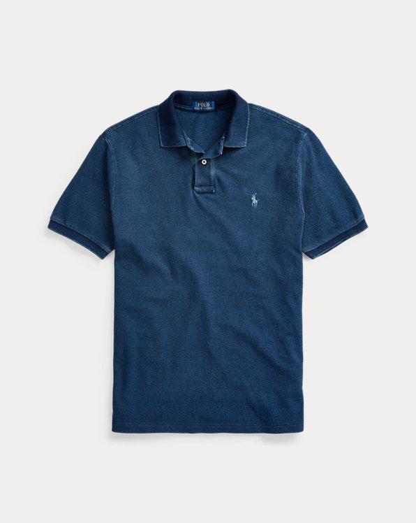 Classic Fit Indigo Mesh Polo Shirt