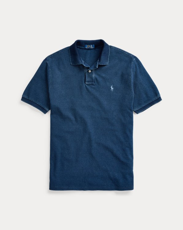 Piqué-Polo im Custom-Slim-Fit