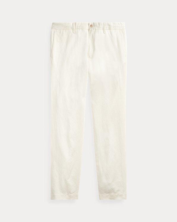 Pantalon slim en lin mélangé