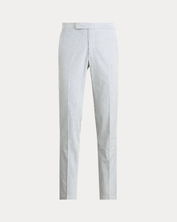 Cotton Seersucker Suit Trouser